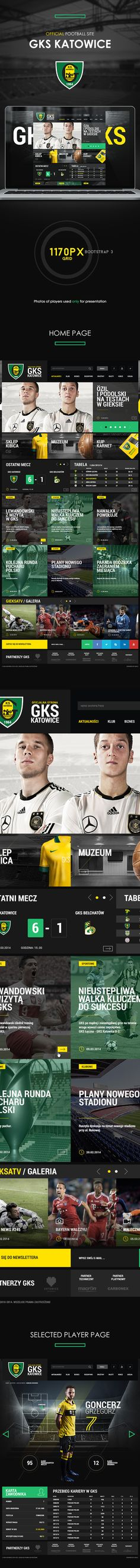 Official Football Site - GKS Katowice on Web Design Served