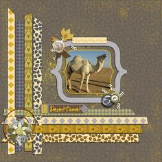 """Desert Camel - weaved strips - Marisa Lerin """"Arabia"""" kit"""