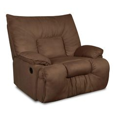 What a cozy looking recliner! Great for those cold winter movie night - pop some popcorn and relax!