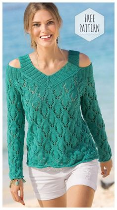 Crochet Lace Blouse and Pattern Lace Knitting, Knitting Stitches, Crochet Blouse, Knit Crochet, Knit Fashion, Crochet Clothes, Pulls, Knitwear, Knitting Patterns