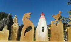 Holz Zaun Leuchtturm