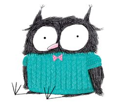 Ina Hattenhauer - I love this owl! It reminds me of a book from my childhood: Sam and the Firefly.