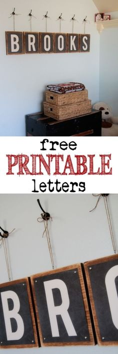 Free Printable Letters at Shanty-2-Chic.com - Print 8x10 letters for any room for FREE! LOVE these! by chuly