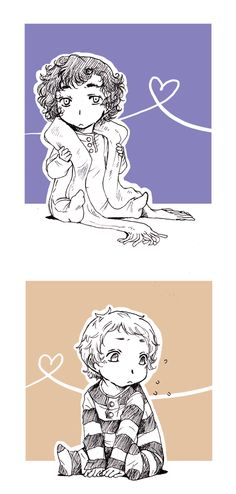 It's baby Sherlock and Watson <---- i swear i have suuuch a huge soft spot for kidlock