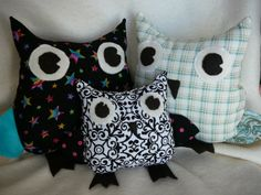 Owl stuffies from Cake Mommy Creations