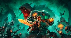 """Check out this @Behance project: """"Battle Chasers - Fan animation"""" https://www.behance.net/gallery/47679335/Battle-Chasers-Fan-animation"""