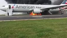 10/28/2016 - WATCH: Fire, smoke erupt from American Airlines plane after issue with takeoff at Chicago O'Hare