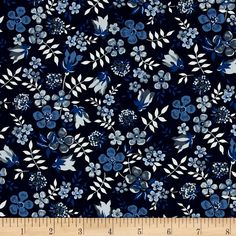 Liberty of London Classic Tana Lawn Edenham Royal Blue from @fabricdotcom  From the world famous Liberty Of London, this exquisite cotton lawn fabric is finely woven, silky, very lightweight and ultra soft. This gorgeous fabric is oh so perfect for flirty blouses, dresses, lingerie, even quilting. Colors include shades of blue, grey, and white.