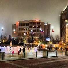 .@muzikbynature's photo: CNN Center, Centennial Olympic Park Fountains and Omni Hotel, Atlanta GA #cnn #omnihotels