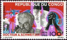 Francobolli - Albert Schweitzer - Stamps -Congo 1966