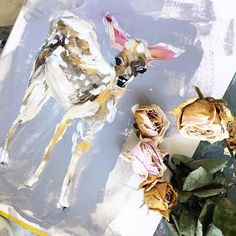 Loved painting this little lady last night  going to paint more to create a little family she shines gold when the light touches her! - Katie Jobling
