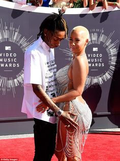 Husband and wife: Amber was married to Wiz Khlaifa for just over a year and filed for divo...