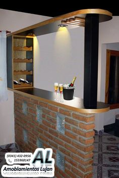 1000 images about barra on pinterest wine racks bar for Barras rusticas de madera para bares