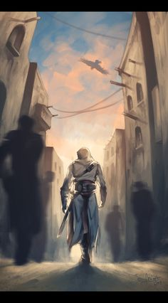 Assassin's Creed by TheMinttu.deviantart.com on @deviantART Altair walks through the streets.