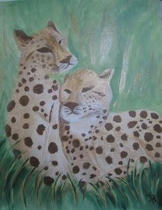 """Canvas Art by Jamie """"Cheetahs"""""""