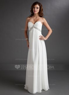 Wedding Dresses - $142.99 - Empire Sweetheart Floor-Length Chiffon Wedding Dress With Ruffle Beadwork (002011702) http://jjshouse.com/Empire-Sweetheart-Floor-Length-Chiffon-Wedding-Dress-With-Ruffle-Beadwork-002011702-g11702?ver=xdegc7h0