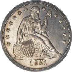 1851 Seated Liberty Dollar