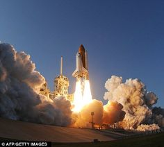 The Space Shuttle Discovery blasts off for the final mission of the program in 2011