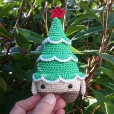 Christmas tree Xaver made by Maren N. / crochet pattern by lalylala