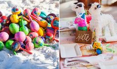 elizabeth-medina-photography-tulum-wedding-photographer Mexico wedding favors. Pinata favors and colorful maracas.