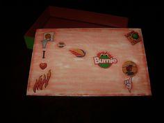 Caixa de MDF com decoupage - tema Miami Heat-1