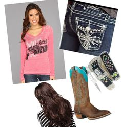 Cowgirl outfit Country Outfits, Country Girls, Casual Outfits, Cowgirl Outfits, Cowgirl Style, Beach Babe, School Outfits, Jeans And Boots, Outfit Ideas
