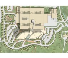 A site plan for the expansion illustrates the location of a rooftop helipad with direct access to critical care and operating rooms at the hospital. Credit: Nemours.