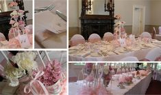 A christening fit for a princess, with warm pink florals and linens combined with vintage china to create a warm, intimate atmosphere.