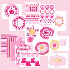 printable Pinkalicious Inspired Birthday by wantsandwishesdesign, $30.00