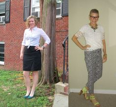 What We Wore: Black and White   Two Take on Style