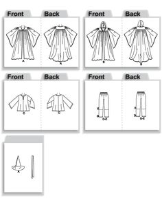 M3789 | Misses'/Men's/Teen Boys'/Children's/Boys' & Girls' Witches / Wizards Costumes