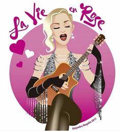 Madonna - a cantora postou o desenho de um dos momentos da Rebel Heart, quando ela puxa La Vie en Rose (Foto: Reprodução Instagram)