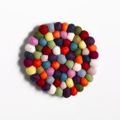Felt ball trivet / coaster / place mat