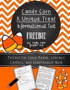Candy Corn Informational Text Freebie! Oh Snap! It's Almost October!