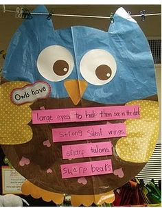 Literacy and Laughter - Celebrating Kindergarten children and the books they love: Having a Hoot with my Owl Theme!!