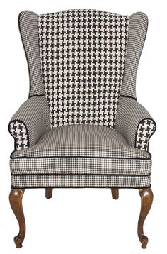 RESERVED FOR CHRISTINA Houndstooth Wingback by JessicaAllynDesigns