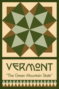Olde America Antiques | Quilt Blocks | National Parks | Bozeman Montana : 50 STATE QUILT BLOCK SERIES - VERMONT
