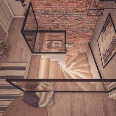 No dobra wybieram czarne dodatki do lazienki❤️ I pokazuje Wam po raz pierwszy schody❤️Podobno ledy to przeżytek i kicz, a my uwielbiamy z mama wyzwania❤️I co powiecie na taka wersja? Zainspirowana Wami - są i czarne elementy❤️Loving it?;) 🇺🇸Do you like such stairs by me&my mum? #stairs #schody #nostairs #hall #halldesign #woodenstairs #interior_delux #modern #glass #lights Home Stairs Design, Interior Stairs, Home Interior Design, Interior Architecture, House Design, Flur Design, Modern Staircase, House Stairs, Home Living Room