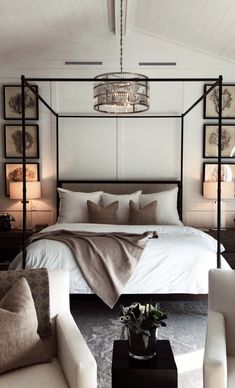 Learn how to create the perfect bedroom with these key design principles and ide. Learn how to create the perfect bedroom with these key design principles and ideas Master Bedroom Design, Home Decor Bedroom, Bedroom Ideas, Bedroom Designs, Canopy Bedroom, Bedroom Inspo, Dream Bedroom, Master Suite, Bedroom Interior Design