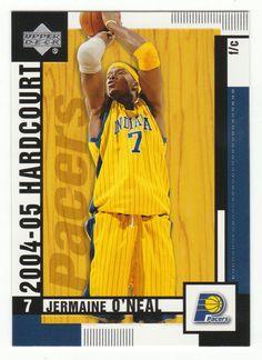 Jermaine O'Neal # 31 - 2004-05 Upper Deck Hardcourt Basketball Basketball Cards, Nba Basketball, Jermaine O'neal, Indiana Pacers, Upper Deck, Mint, Baseball, Peppermint