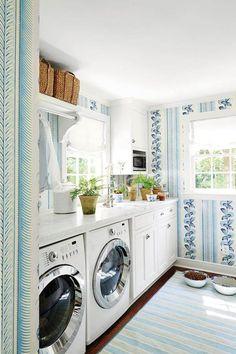 papel pintado en lavadero