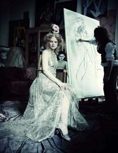 Guinevere Van Seenus, photo by Paola Roversi, Vogue Italia, 2014