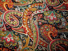 Paisley patterns originated from Persia, sometimes called 'Persian Pickles'. Its western name derives from the town of Paisley, in central Scotland, a centre for textiles where paisley designs were produced. Fascinating! http://en.wikipedia.org/wiki/Paisley_(design)