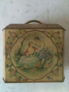 Charming Shabby Chic Victorian Romantic Valentine Tin-CKK Finds + Designs