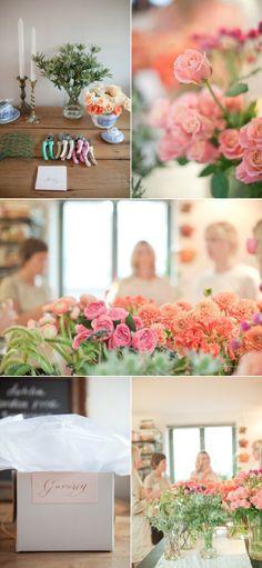 DIY Flower Arranging Party from Gabriella New York