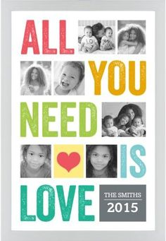 All You Need Is Love Framed Print, White, Contemporary, None, None, Single piece, 20 x 30 inches