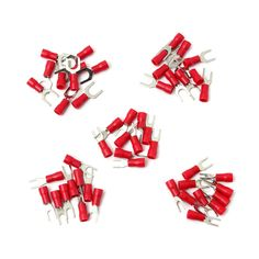 10pcs Red Insulated Fork Wire Connector Electrical Crimp Terminal 22-16AWG