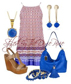 Polyvore, fashion, style and Robert Lee Morris, Summer outfits, Sun Dresses, Fashion for women over 40