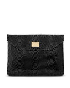 'Black Python' ~Embossed Leather macbook air sleeve ~ #Michael_Kors