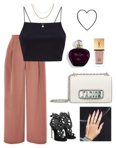 """#513"" by claudia-rania ❤ liked on Polyvore featuring Topshop, Giuseppe Zanotti, Luv Aj and Yves Saint Laurent"